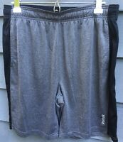 REEBOK grey Black Men's Athletic Shorts Size Large L EUC