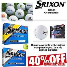 SRIXON AD333 GOLF BALLS NEW 2019 OVERSTAMP BALLS AD333 TOUR COMPANY LOGO