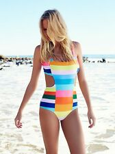 Mara Hoffman Vela Cut Out One-Piece XSMALL rainbow multi new with tags