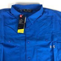 NWT Under Armour UA Tide Chaser UPF 30 Fishing Shirt Men's size 3XL Short Sleeve