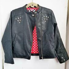 Disney Minnie Rocks The Dots Faux Leather Jacket, Girls Size 5-6