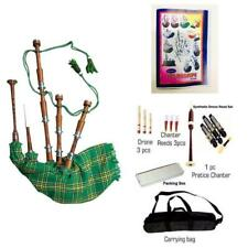 More details for scottish irish plain bagpipes silver amounts/rosewood brown bagpipe