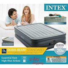 "Intex Dura-Beam Standard Series 20"" Essential Rest Airbed, Queen - 64139E"