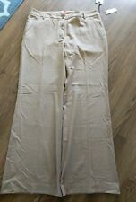 Anthropology Cartonnier Camel Color Cotton Solid Wide Leg Dress Pants SZ 16 NEW