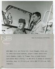 CHUCK YEAGER Astronaut Pilot RARE VINTAGE PHOTO I Dream of Jeannie LARRY HAGMAN