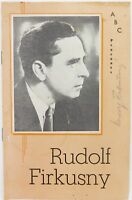 SCARCE 1959 RUDOLF FIRKUSNY, CZECH PIANIST SIGNED AUSTRALIAN TOUR ABC PROGRAMME.