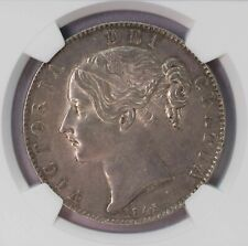 NGC-AU58 1845 GREAT BRITAIN CROWN TONED AUNC
