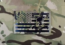 "Large Infrared Multicam IR US Flag Patch 5"" x 3"" Special Forces CIF Green Beret"