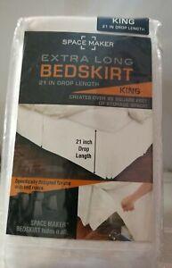 "🌰 Space Maker-21"" Drop Length Bed Skirt King"