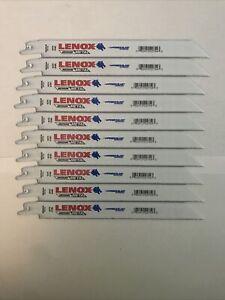 "100 Lenox Reciprocating Saw Blades 8"" 18 TPI Power Blast For Sawzalls 100 Pack"