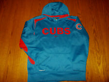 NIKE THERMA-FIT MLB CHICAGO CUBS BLUE HOODED SWEATSHIRT BOYS LARGE 16-18 EXC.