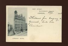 London BLOOMSBURY Kingsley Hotel Advert PPC Used 1905