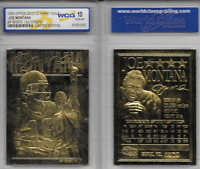 JOE MONTANA 1995 WCG GEM-MT 10 LIMITED EDITION 23KT GOLD CARD! 49'ERS/CHIEFS!