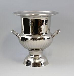 9977101 Silber-Farbener Sekt-Kühler Nickel Plated Vintage 10 3/16x9 1/8in