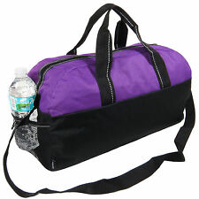 Purple/Black Gym Bag Duffel Workout Sport Bag Overnight Travel Carry on Bag
