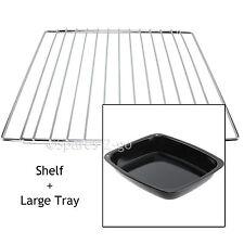 BELLING Adjustable Chrome Oven Cooker Grill Shelf & Large Enamel Roasting Tin