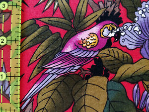 Lot 1359 Alexander Henry, 9.33 Yards Flowers & Birds, Looks Like Quilting Cotton
