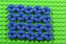 20 X  lego PLATE 2X2 ROUND BLUE 403223