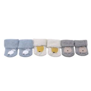 Baby Newborn Girls Boys Anti-slip Socks Cartoon Animal Floor Thicken Socks YG
