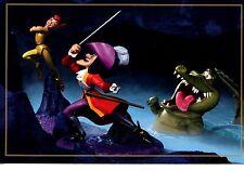 Disney Peter Pan-Captain Hook-Croc Sculptures-Large Modern Advertising Postcard