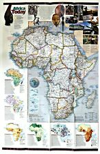 ⫸ 2001-9 September Africa'S Natural Realms National Geographic Map Poster School