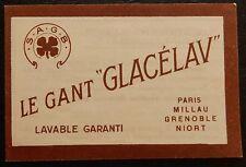 """20X Publicité ancienne / Pub """"Le gant GLACELAV"""""""