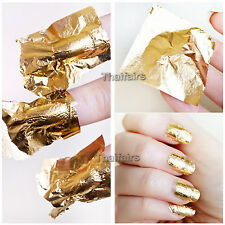 20 pcs x 24K PURE GOLD LEAF , FOIL FOR NAIL ART GLIDING 1.18 x 1.18 or 3x3cm.