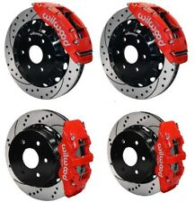 "WILWOOD DISC BRAKE KIT,1999-2018 SILVERADO,SIERRA,ESCALADE,16""/14"" Rotors,RED"