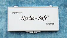 Large NEEDLE SAFE Magnetic Needle Storage Case Needlepoint ~ Needles & Scissors