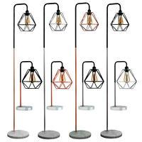 Modern Industrial Table Floor Lamp Marble Base Lounge Light Geometric Shade Home