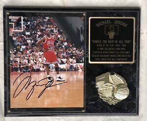 "Michael Jordan Original Signed 9""x8"" Photo Basketball, Framed with COA"