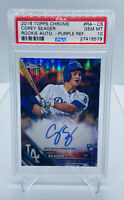 2016 TOPPS CHROME COREY SEAGER #RA-CS PURPLE REFRACTOR AUTO 91/250 PSA 10 ROOKIE