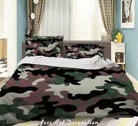 3D Vintage Pattern Camouflage Quilt Cover Sets Pillowcases Duvet Comforter 206