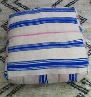 Moroccan Kilim Pouffe / Floor Cushions Cover/ Vintage