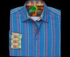 Robert Graham Stunning Embroidered stripes Bubbles Men's M Medium Slim Shirt NEW