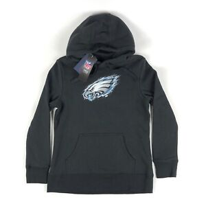 Philadelphia Eagles NFL Pro Line Fanatics Womens Small Black Hoodie Sweatshirt