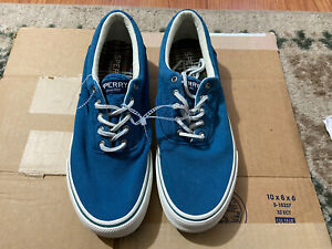 Men's Sperry Top-Sider Striper Salt Washed Sneakers Boat Shoes STS23061 Size 10