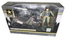 US Army Helicopter Playset 1-18 scale 3.75 inch with 1 Soldier - BRAND NEW!!!