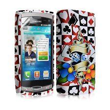 étui coque en gel pour Samsung Wave 2 S8530 avec motifs + film protecteur