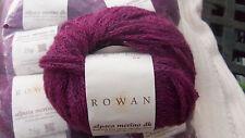 Rowan Alpaca Tejido De Lana Merino dk en tonos púrpura Hoby Lote de 10 X 25g bolas