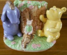 Disney Winnie the Pooh Piglet and Eeyore Hand Painted Ceramic Toothbrush Holder