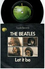 THE BEATLES Let it be 45rpm 7' + PS 1970 UK MINT-