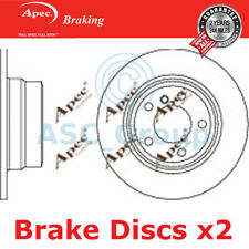 2 X Apec BRAKING 323mm Solide Original Qualität Ersatz Bremsscheiben (Paar)