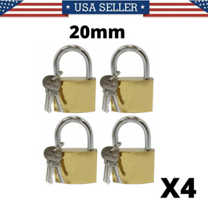[Pack of 4] Laminated Padlock 45 mm with Protective Bumper and 2X Keys
