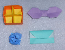 Handmade Origami Divided Box Envelope Bow Tie Water Lily Yasutomo Japanese Paper