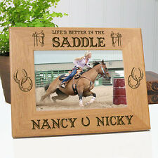 Personalized Horse Lover Gift Frame - Life's Better In The Saddle