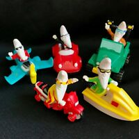 Vintage McDonald's Toys - 1988 Moon Figure on Jet Ski, Car, Motorcycle, Plane, J