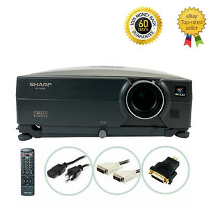 Sharp XG-C455W 3LCD Projector 4000 ANSI Conference HD 1080p HDMI-adapter bundle