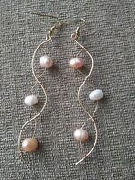 Floating Pearls Dangle Earrings
