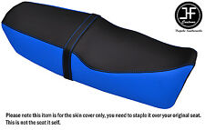 DESIGN 2 BLACK L BLUE VINYL CUSTOM FOR SUZUKI RG GAMMA 125 85-91 DUAL SEAT COVER